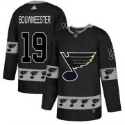 Wholesale Cheap Adidas Blues #19 Jay Bouwmeester Black Authentic Team Logo Fashion Stitched NHL Jersey