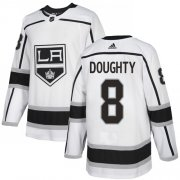 Wholesale Cheap Adidas Kings #8 Drew Doughty White Road Authentic Stitched Youth NHL Jersey