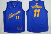 Wholesale Cheap Men's Golden State Warriors #11 Klay Thompson Blue Stitched NBA Adidas Revolution 30 Swingman Jersey