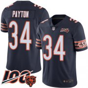 Wholesale Cheap Nike Bears #34 Walter Payton Navy Blue Team Color Youth Stitched NFL 100th Season Vapor Limited Jersey