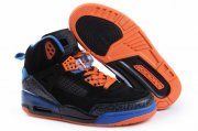 Wholesale Cheap Womens Jordan 3.5 Spizike Shoes Black/Blue/Orange