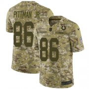 Wholesale Cheap Nike Colts #86 Michael Pittman Jr. Camo Youth Stitched NFL Limited 2018 Salute To Service Jersey