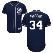 Wholesale Cheap Padres #34 Rollie Fingers Navy Blue Flexbase Authentic Collection Stitched MLB Jersey