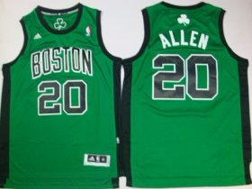 Wholesale Cheap Boston Celtics #20 Ray Allen Revolution 30 Swingman Green With Black Jersey