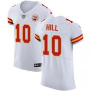 Wholesale Cheap Nike Chiefs #10 Tyreek Hill White Men's Stitched NFL Vapor Untouchable Elite Jersey
