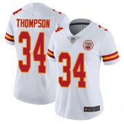 Wholesale Cheap Nike Chiefs #34 Darwin Thompson White Women's Stitched NFL Vapor Untouchable Limited Jersey