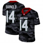 Cheap New York Jets #14 Sam Darnold Men's Nike 2020 Black CAMO Vapor Untouchable Limited Stitched NFL Jersey