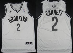Wholesale Cheap Brooklyn Nets #2 Kevin Garnett Revolution 30 Swingman White Jersey
