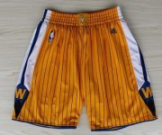 Wholesale Cheap Golden State Warriors Yellow Pinstripe Short