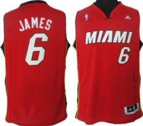 Wholesale Cheap Miami Heat #6 LeBron James Revolution 30 Swingman Red Jersey