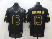 Wholesale Cheap Men's Cleveland Browns #13 Odell Beckham Jr Black Gold 2020 Salute To Service Stitched NFL Nike Limited Jersey