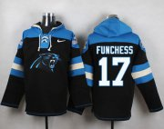 Wholesale Cheap Nike Panthers #17 Devin Funchess Black Player Pullover NFL Hoodie