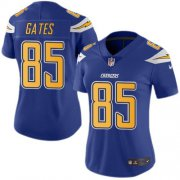 Wholesale Cheap Nike Chargers #85 Antonio Gates Electric Blue Women's Stitched NFL Limited Rush Jersey
