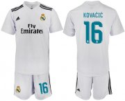 Wholesale Cheap Real Madrid #16 Kovacic White Home Soccer Club Jersey