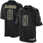 Wholesale Cheap Nike Saints #8 Archie Manning Black Men's Stitched NFL Impact Limited Jersey