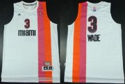 Wholesale Cheap Miami Floridians #3 Dwyane Wade ABA Hardwood Classic Swingman White Jersey