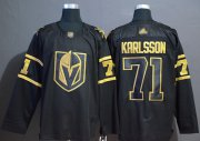 Wholesale Cheap Adidas Golden Knights #71 William Karlsson Black/Gold Authentic Stitched NHL Jersey