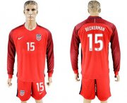 Wholesale Cheap USA #15 Beckerman Away Long Sleeves Soccer Country Jersey
