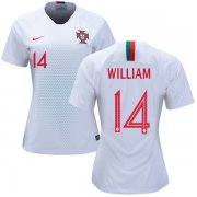 Wholesale Cheap Women's Portugal #14 William Away Soccer Country Jersey