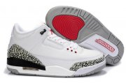 Wholesale Cheap Air Jordan 3 Big Size 14 15 16 White/Cement Grey-black-red
