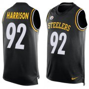 Wholesale Cheap Nike Steelers #92 James Harrison Black Team Color Men's Stitched NFL Limited Tank Top Jersey