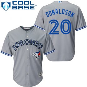 Wholesale Cheap Blue Jays #20 Josh Donaldson Grey Cool Base Stitched Youth MLB Jersey