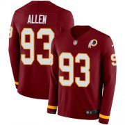 Wholesale Cheap Nike Redskins #93 Jonathan Allen Burgundy Red Team Color Men's Stitched NFL Limited Therma Long Sleeve Jersey