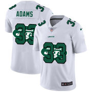 Wholesale Cheap New York Jets #33 Jamal Adams White Men's Nike Team Logo Dual Overlap Limited NFL Jersey