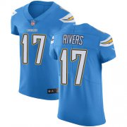 Wholesale Cheap Nike Chargers #17 Philip Rivers Electric Blue Alternate Men's Stitched NFL Vapor Untouchable Elite Jersey