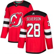Wholesale Cheap Adidas Devils #28 Damon Severson Red Home Authentic Stitched NHL Jersey