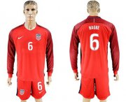 Wholesale Cheap USA #6 Nagbe Away Long Sleeves Soccer Country Jersey