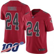 Wholesale Cheap Nike Falcons #24 A.J. Terrell Red Men's Stitched NFL Limited Rush 100th Season Jersey