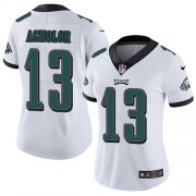 Wholesale Cheap Nike Eagles #13 Nelson Agholor White Women's Stitched NFL Vapor Untouchable Limited Jersey
