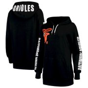 Wholesale Cheap Baltimore Orioles G-III 4Her by Carl Banks Women's 12th Inning Pullover Hoodie Black