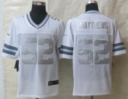 Wholesale Cheap Nike Packers #52 Clay Matthews White Men's Stitched NFL Limited Platinum Jersey