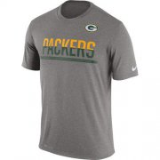 Wholesale Cheap Men's Green Bay Packers Nike Practice Legend Performance T-Shirt Grey