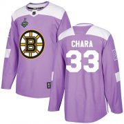 Wholesale Cheap Adidas Bruins #33 Zdeno Chara Purple Authentic Fights Cancer Stanley Cup Final Bound Stitched NHL Jersey