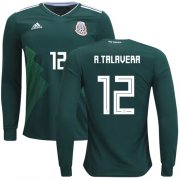 Wholesale Cheap Mexico #12 A.Talavera Home Long Sleeves Soccer Country Jersey