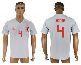 Wholesale Cheap Japan #4 Honda Away Soccer Country Jersey