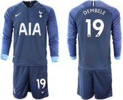 Wholesale Cheap Tottenham Hotspur #19 Dembele Away Long Sleeves Soccer Club Jersey