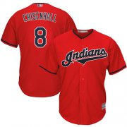 Wholesale Cheap Indians #8 Lonnie Chisenhall Red New Cool Base Stitched MLB Jersey
