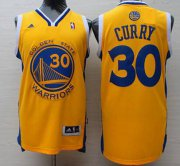 Wholesale Cheap Men's Golden State Warriors #30 Stephen Curry Revolution 30 Swingman Yellow Jersey