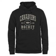 Wholesale Cheap Men's Montreal Canadiens Black Camo Stack Pullover Hoodie