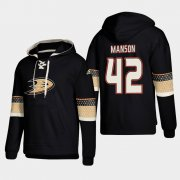 Wholesale Cheap Anaheim Ducks #42 Josh Manson Black adidas Lace-Up Pullover Hoodie