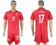 Wholesale Cheap Norway #17 Linnes Home Soccer Country Jersey