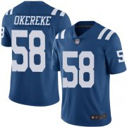 Wholesale Cheap Nike Colts #58 Bobby Okereke Royal Blue Men's Stitched NFL Limited Rush Jersey
