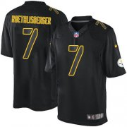 Wholesale Cheap Nike Steelers #7 Ben Roethlisberger Black Men's Stitched NFL Impact Limited Jersey