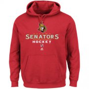 Wholesale Cheap Ottawa Senators Majestic Critical Victory Pullover Hoodie Sweatshirt Red