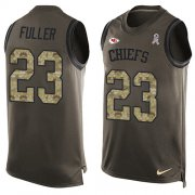 Wholesale Cheap Nike Chiefs #23 Kendall Fuller Green Men's Stitched NFL Limited Salute To Service Tank Top Jersey