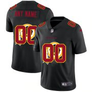 Wholesale Cheap Washington Redskins Custom Men's Nike Team Logo Dual Overlap Limited NFL Jersey Black